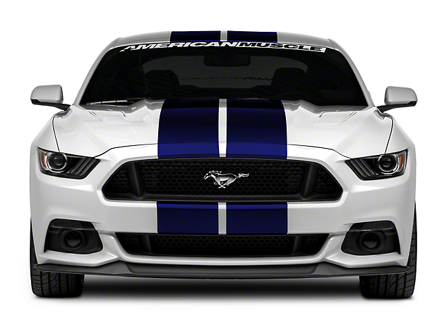 Mustang Decals And Stripes >> American Muscle Graphics Mustang Blue GT500 Style Stripes ...