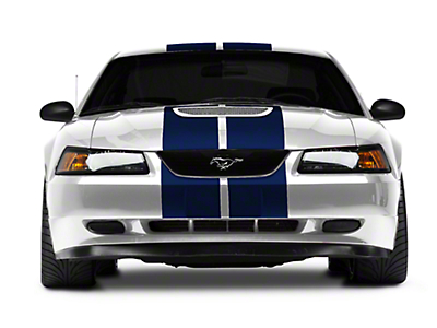American Muscle Graphics Blue GT500 Style Stripes - 10 in. (94-04 All)