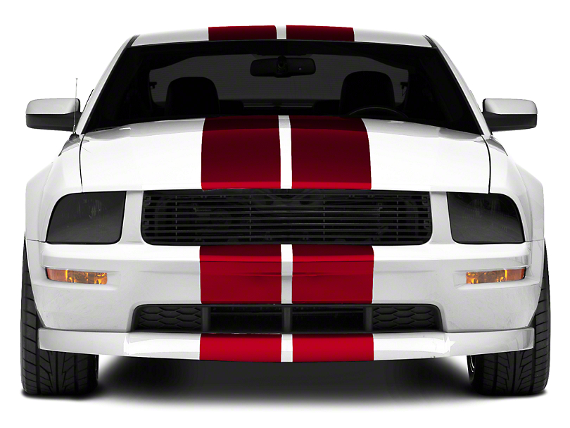 American Muscle Graphics Red GT500 Style Stripes - 10 in. (05-14 All)