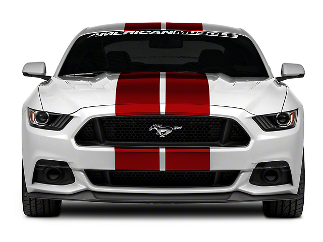 American Muscle Graphics Red GT500 Style Stripes - 10 in. (15-18 All)