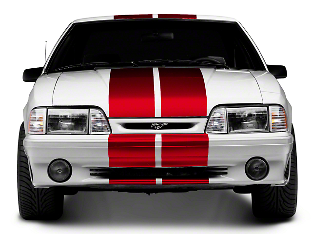 American Muscle Graphics GT500 Style Stripes; Red; 10-Inch (79-93 All)