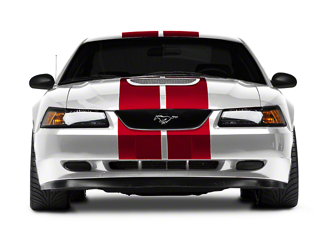 American Muscle Graphics GT500 Style Stripes; Red; 10-Inch (94-04 All)