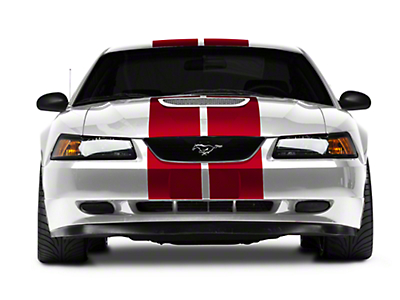 American Muscle Graphics Red GT500 Style Stripes - 10 in. (94-04 All)