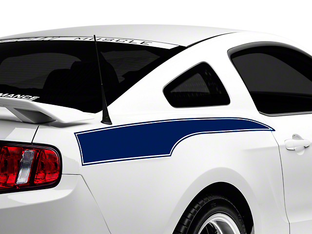 American Muscle Graphics Blue Rear Side Stripe Decal (10-14 All)