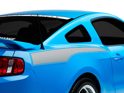 American Muscle Graphics Silver Rear Side Stripe Decal (10-14 All)