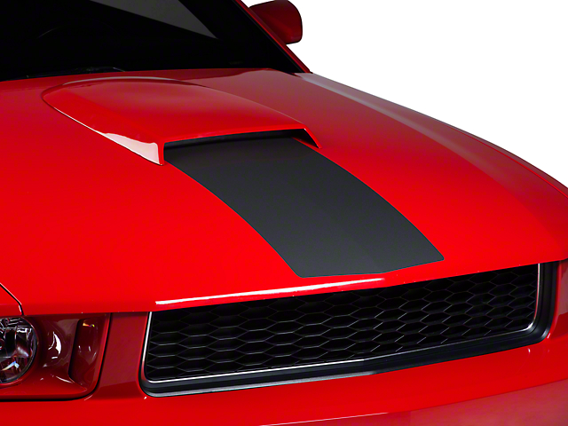 American Muscle Graphics Matte Black Hood Stripe (05-09 GT, V6)