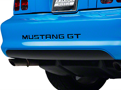 American Muscle Graphics Matte Black Lower Rear Valance Decal (94-98 All)