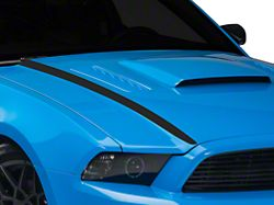 American Muscle Graphics Matte Black Hood Accent Decal (13-14 All)