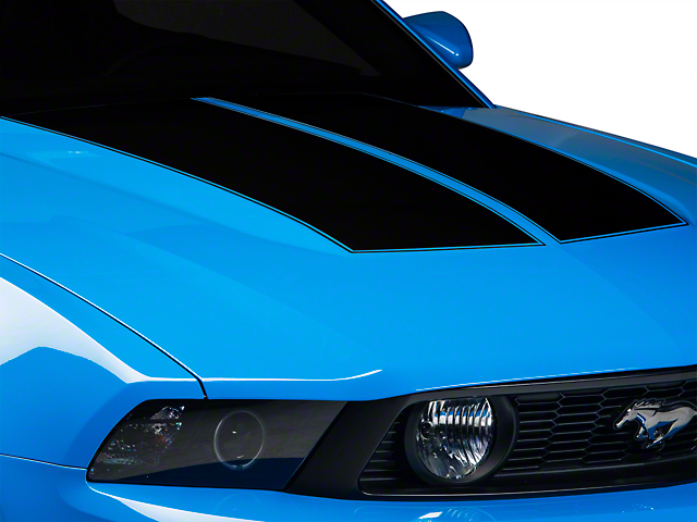 SEC10 Dual Hood Stripes; Black (10-12 All)