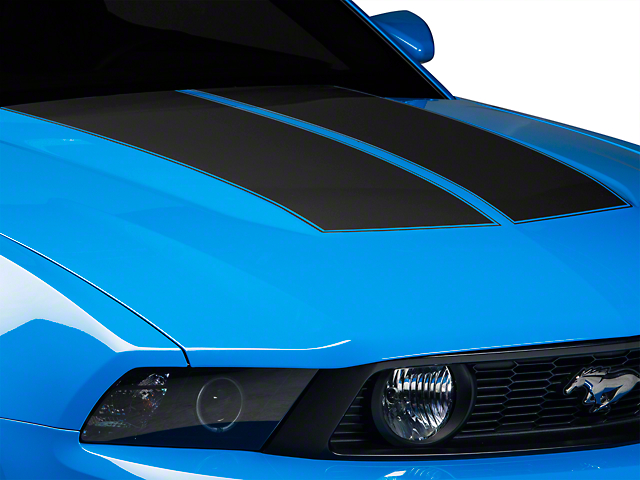 American Muscle Graphics Matte Black Dual Hood Stripe (10-12 All)