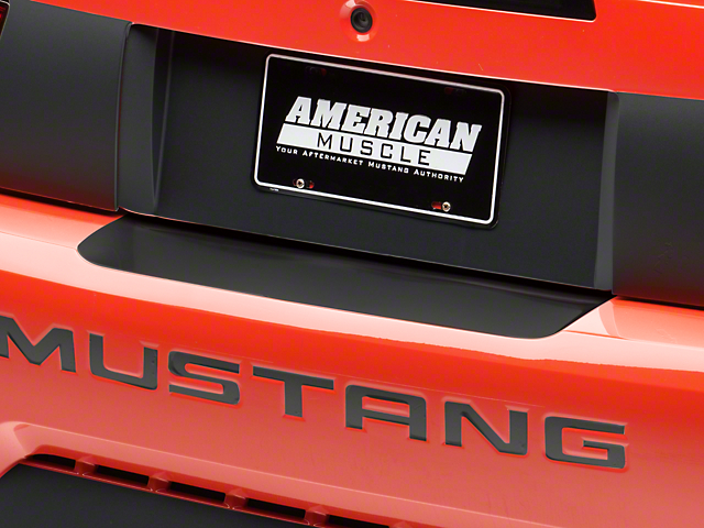 American Muscle Graphics Matte Black Rear Bumper Accent (99-04 All)