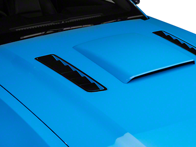 American Muscle Graphics Hood Vent Accent Decal - Black (13-14 All)