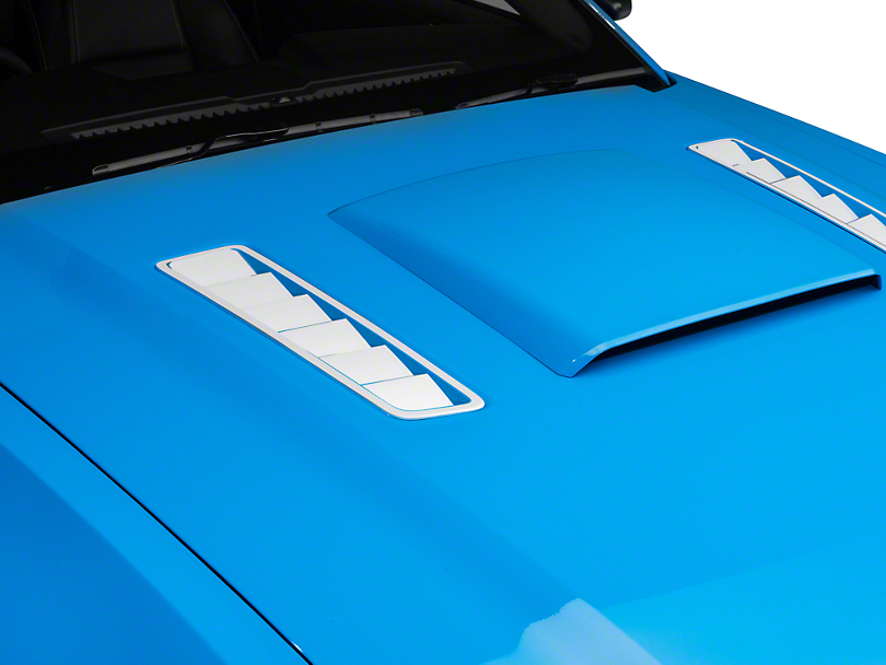 American Muscle Graphics Hood Vent Accent Decal - White (13-14 All)