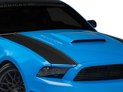 American Muscle Graphics Matte Black Outer Hood Stripes (13-14 All)