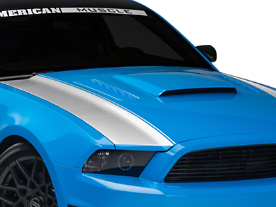 American Muscle Graphics Silver Outer Hood Stripes (13-14 All)