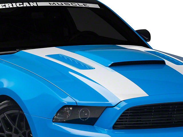 American Muscle Graphics White Inner Hood Stripes (13-14 All)