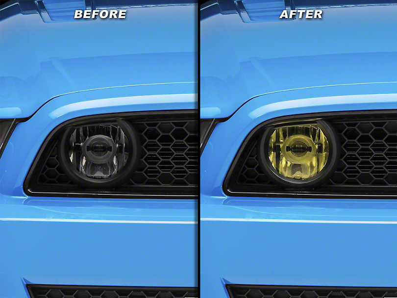 American Muscle Graphics Yellow Fog Light Tint (13-14 GT)