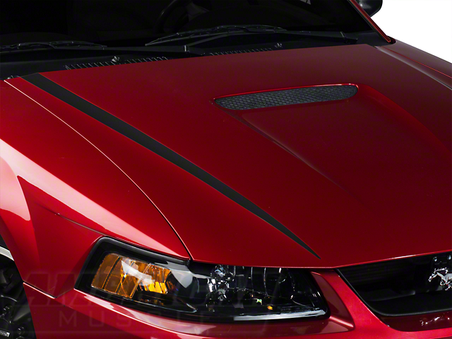 Matte Black Hood Accent Decal (99-04 GT; 99-02 V6)