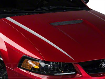 American Muscle Graphics Silver Hood Accent Decal (99-04 GT; 99-02 V6)