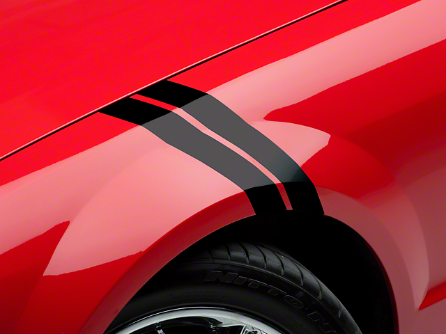 American Muscle Graphics Hash Marks; Black (05-14 All)