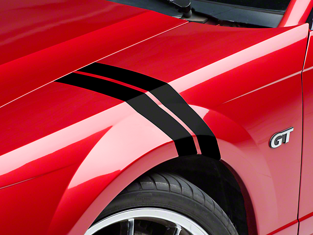 American Muscle Graphics Black Hash Marks (94-04 All)
