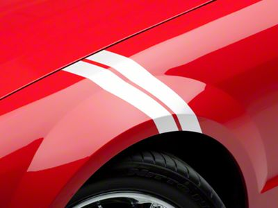 American Muscle Graphics White Hash Marks - Pair (05-14 All)