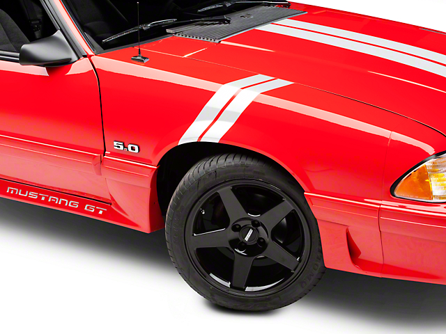 American Muscle Graphics White Hash Marks (79-93 All)