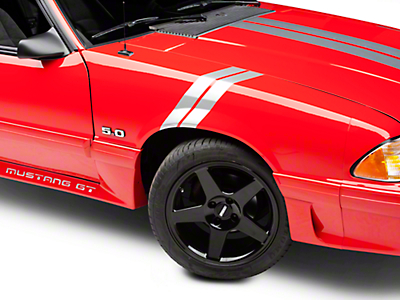 American Muscle Graphics Silver Hash Marks (79-93 All)