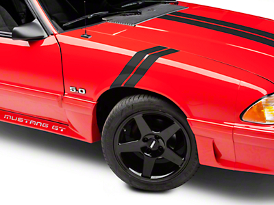 American Muscle Graphics Matte Black Hash Marks (79-93 All)