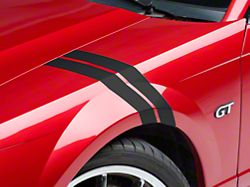 American Muscle Graphics Matte Black Hash Marks - Pair (94-04 All)