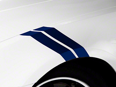 American Muscle Graphics Blue Hash Marks (05-14 All)