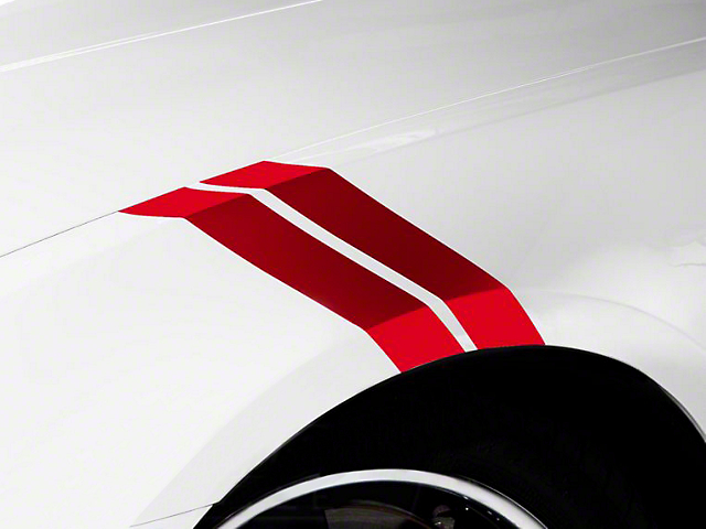 American Muscle Graphics Red Hash Marks (05-14 All)