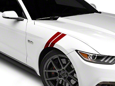 American Muscle Graphics Red Hash Marks - LH (15-17 All)