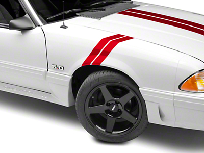 American Muscle Graphics Red Hash Marks - Pair (79-93 All)