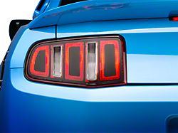 American Muscle Graphics Tail Light Conversion Decal Kit; Matte Black (10-12 All)