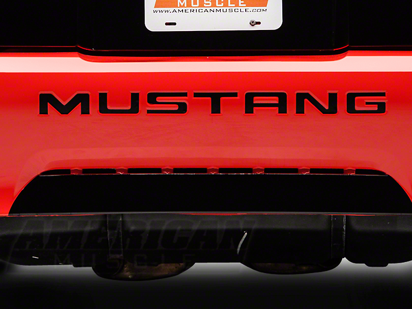 American Muscle Graphics Matte Black Bumper Insert Letters (99-04 GT, V6, Mach 1; 1999 Cobra)