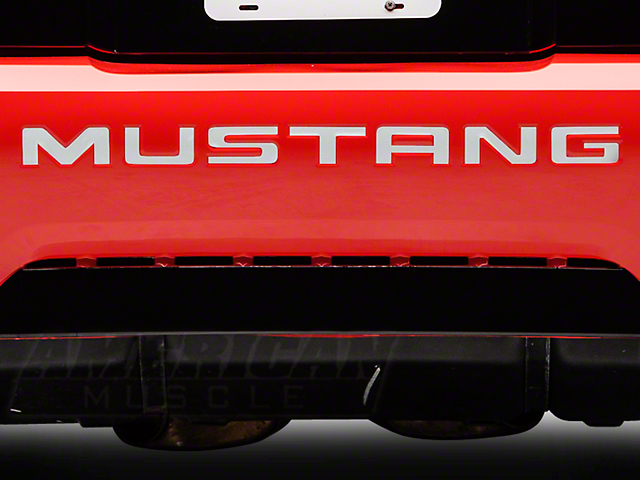 American Muscle Graphics White Reflective Vinyl Bumper Insert Letters (99-04 GT, V6, Mach 1; 1999 Cobra)