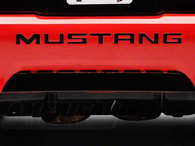 American Muscle Graphics Black Reflective Vinyl Bumper Insert Letters (99-04 GT, V6, Mach 1; 1999 Cobra)