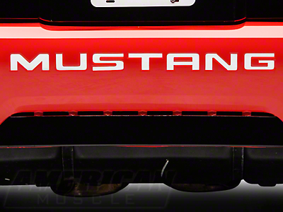American Muscle Graphics White Vinyl Bumper Insert Letters (99-04 GT, V6, Mach 1; 99 Cobra)