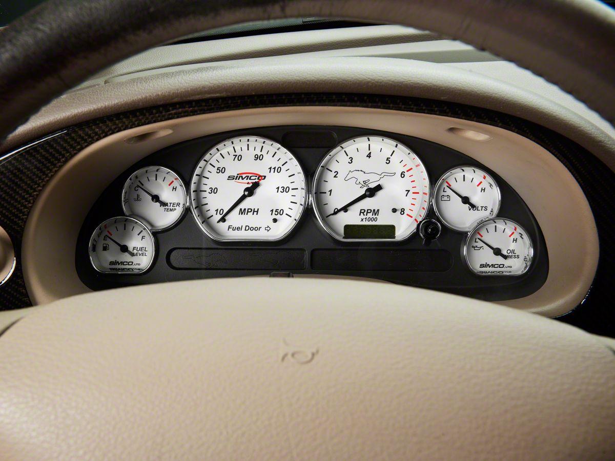 01 02 03 04 Ford Mustang Instrument Cluster Speedometer Bezel Dark Charcoal