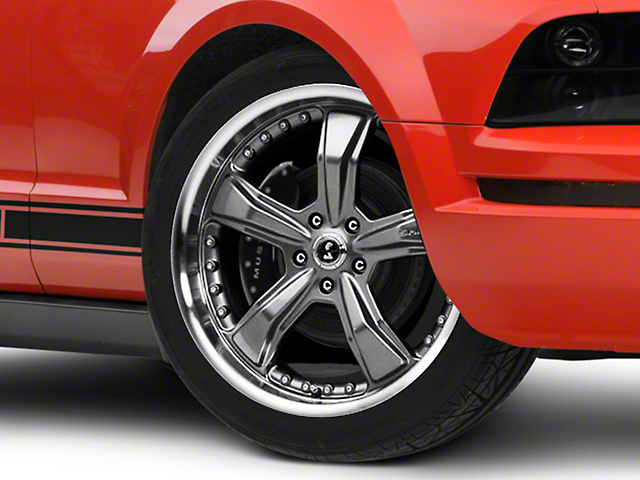 Shelby Razor Gunmetal Wheel - 20x9 (05-14 All, Excluding 13-14 GT500)