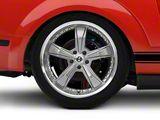 Shelby Razor Gunmetal Wheel; Rear Only; 20x10 (05-09 All)