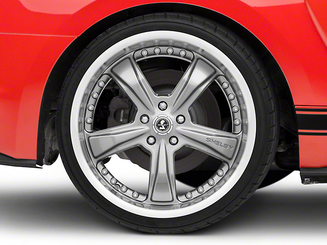 Shelby Razor Gunmetal Wheel; Rear Only; 20x10 (15-20 GT, EcoBoost, V6)