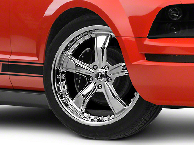 Shelby Razor Chrome Wheel; 20x9 (05-09 All)