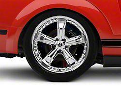 Shelby Razor Chrome Wheel; Rear Only; 20x10 (05-09 All)
