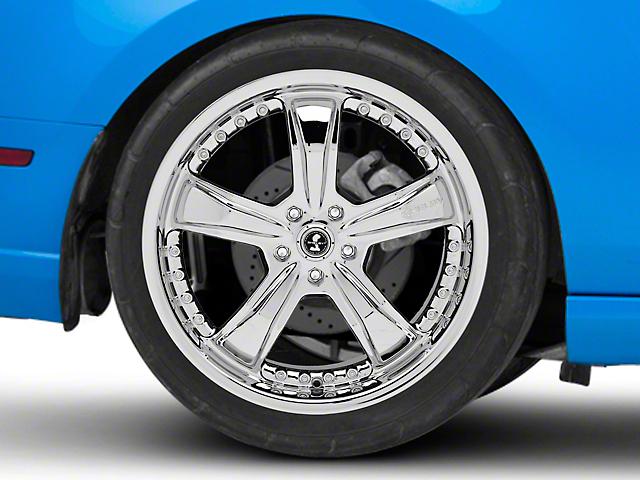 Shelby Razor Chrome Wheel; Rear Only; 20x10 (10-14 All)