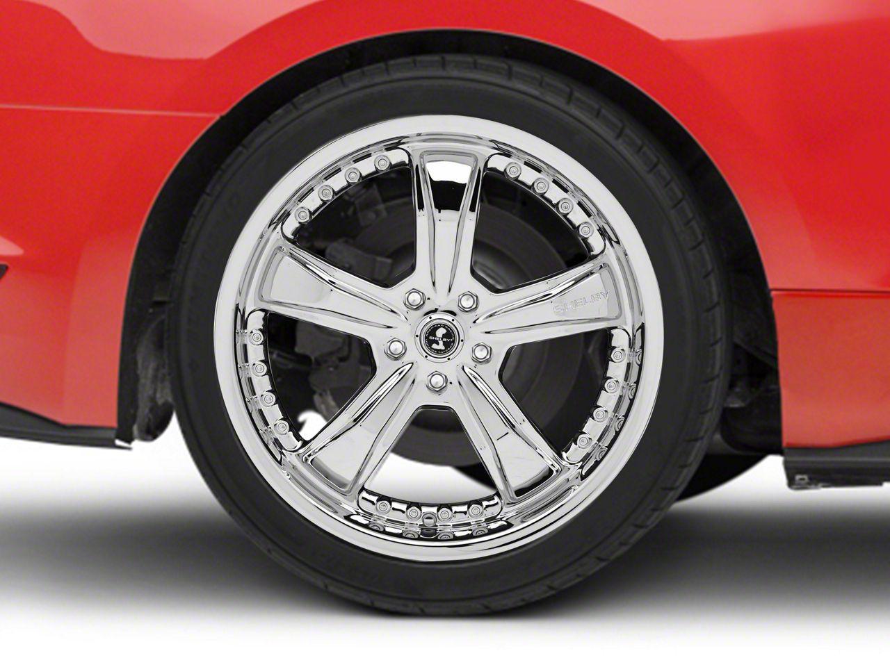 Shelby Razor Chrome Wheel - 20x10 - Rear Only (15-19 GT, EcoBoost, V6)