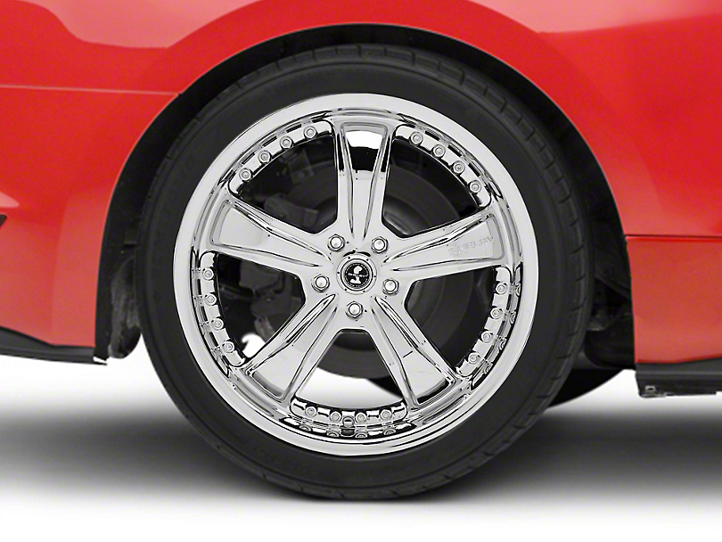Shelby Razor Chrome Wheel - 20x10 - Rear Only (15-19 GT, EcoBoost, V6)