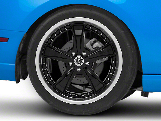 Shelby Razor Black Wheel; Rear Only; 20x10 (10-14 All)