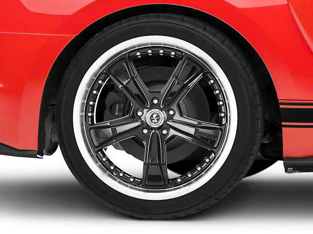 Shelby Razor Black Wheel; Rear Only; 20x10 (15-21 GT, EcoBoost, V6)